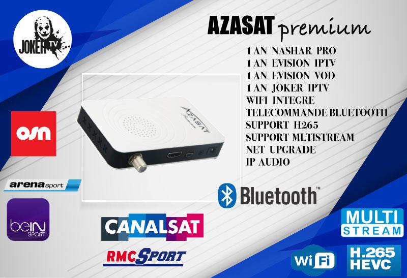 تحديثات جديدة لأجهزة AZASAT إضافة الفرنسية وباقة TNT بدون إنترنات